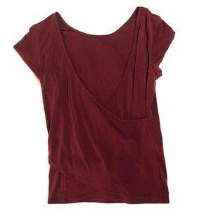 Open back burgundy dress shirt! 🖤🖤